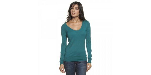 Dámský tyrkysově modrý svetr Lois