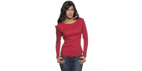 Dámské červené tričko Lois s dlouhým rukávem