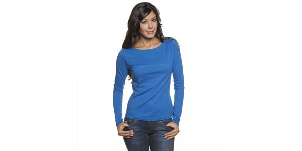 Dámské zářivě modré tričko Lois s dlouhým rukávem
