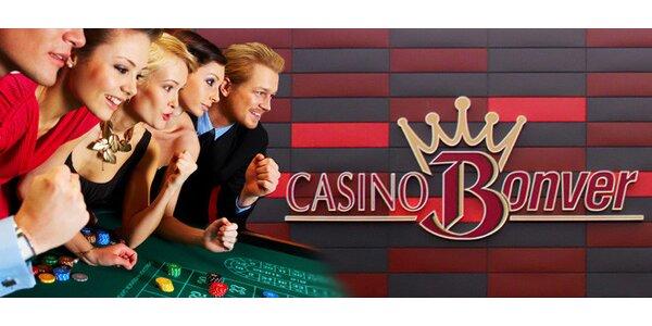Kredit do hry a obří lahev sektu v Casino Bonver Praha