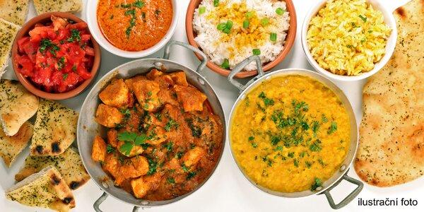 Indická hostina: 3chodové menu pro 2 osoby