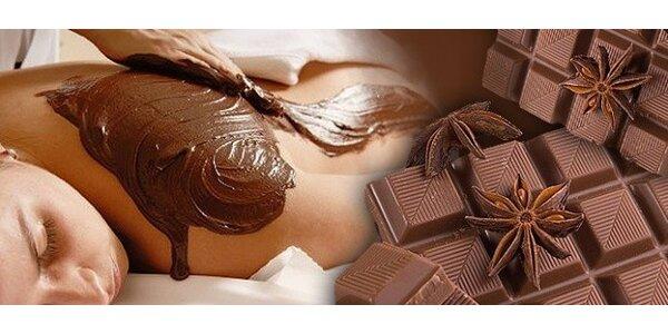 60minutová čokoládová masáž, zábal a peeling