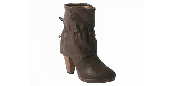 Dámské světle hnědé kotníčkové boty Red Hot