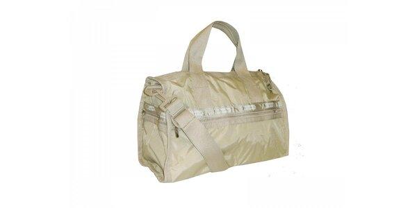 Zlatavá cestovní taška LeSportsac
