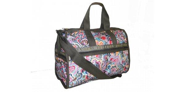 Pestrobarevná cestovní taška LeSportsac