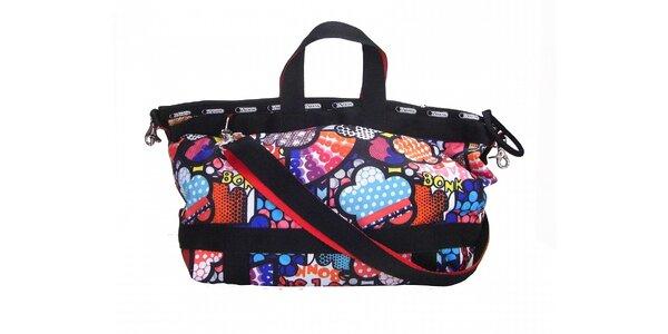 Dámská pestrobarevná taška LeSportsac s veselým potiskem