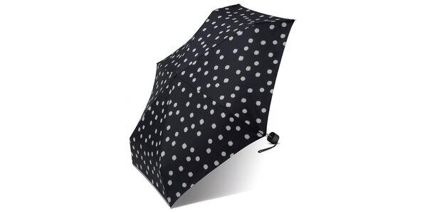 Dámský černý puntíkovaný deštník Esprit