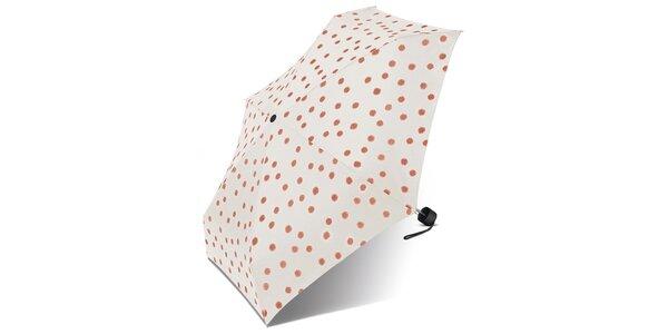 Dámský krémový puntíkovaný deštník Esprit