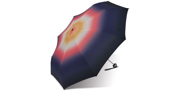 Dámský skládací deštník Esprit s motivem duhy