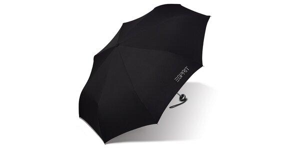 Dámský černý skládací deštník Esprit s kamínky