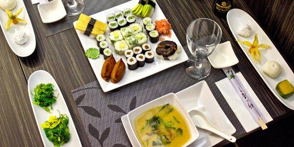 Degustační vegetariánské sushi menu pro dva