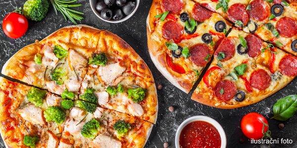 Jedna nebo dvě pizzy s sebou: výběr z 6 druhů