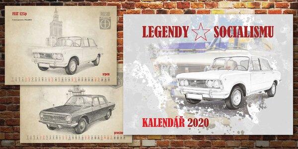 Nástěnný kalendář formátu A3: Legendy socialismu