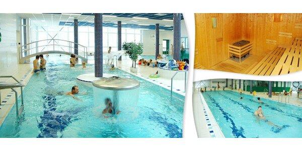 2 vstupy do bazénu, sauny, vířivky a parní lázně