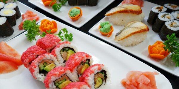 Sushi sety v restauraci Hongkong: 8 až 36 ks