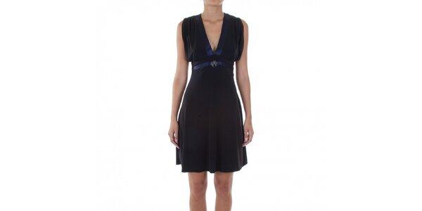 Dámské černé šaty Guess by Marciano s fialovými detaily caeaeae6f6