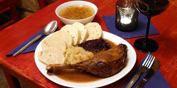 Svatomartinské menu o 4 chodech pro 1–8 osob