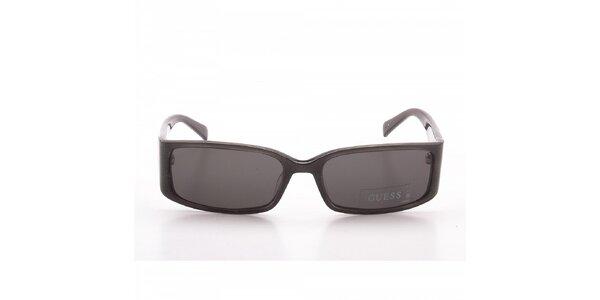 Dámské šedé sluneční brýle Guess s třpytkami