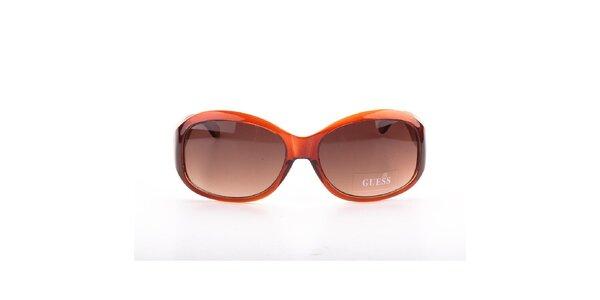 Dámské tmavě oranžové sluneční brýle Guess