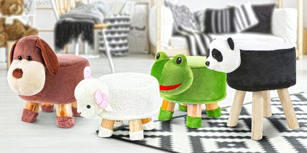 Taburety do dětského pokoje s motivy zvířátek