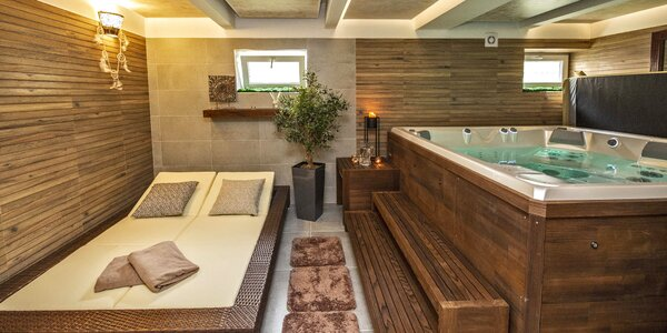 Relaxace v privátní vířivce i sauně až pro 5 osob