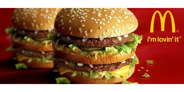 DVA Big Mac™ sendviče v McDonald's