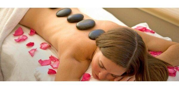 90minutová masáž horkými lávovými kameny