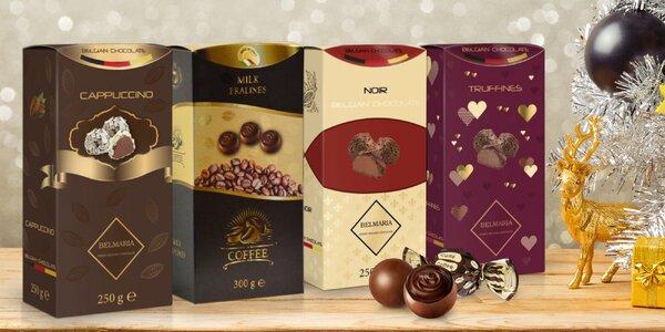 Belgické pralinky nebo lanýže z kvalitní čokolády