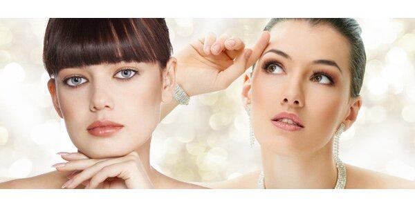 Kosmetické ošetření křišťálovou terapií a barvení řas