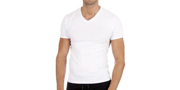 Sněhově bílé tričko s véčkem Polo Ralph Lauren