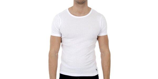 Bílé tričko Polo Ralph Lauren s kulatým výstřihem