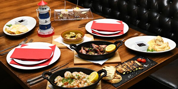 Středomořské degustační menu s chobotnicí