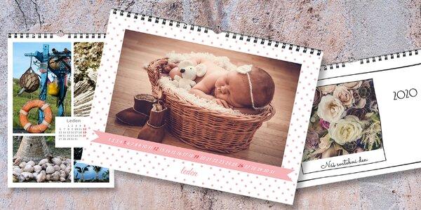Nástěnný fotokalendář z vlastních fotografií A4 nebo A3