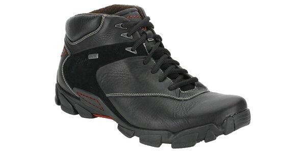 Pánské černé kotníčkové boty Clarks s goratexovou membránou