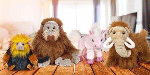 Plyšová zvířátka Webkinz: poník, mamut i plameňák