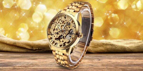 Zlaté hodinky Emperor z nerezové oceli
