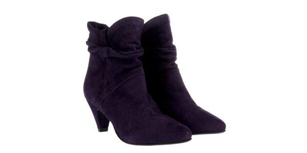 Dámské tmavě fialové kotníčkové boty Fornarina