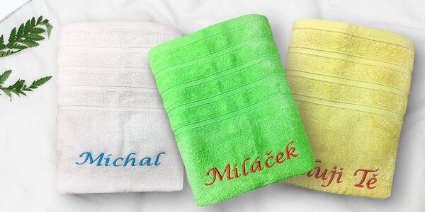 Froté ručník s výšivkou podle vašeho přání