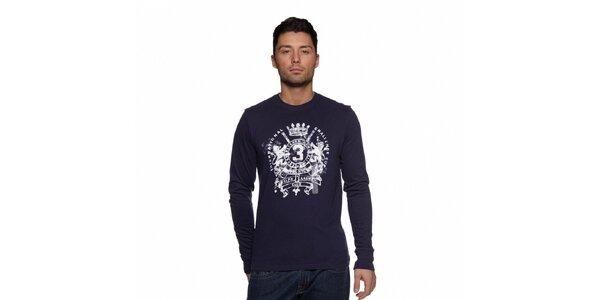 Pánské tmavě modré tričko Ralph Lauren s potiskem
