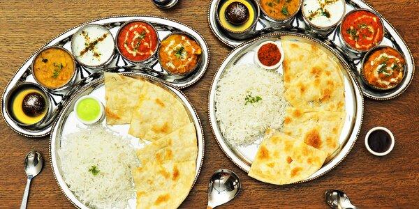 Thali plné chutí: indické degustační menu pro 2