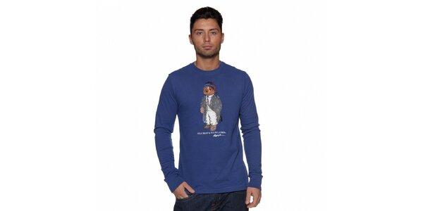 Modré tričko Ralph Lauren s medvědem