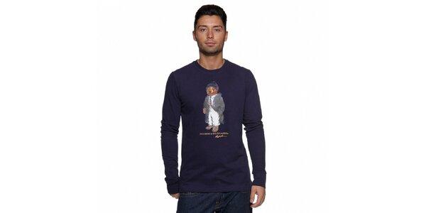 Temně modré tričko Ralph Lauren s medvědem