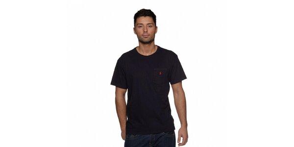 Temně modré triko Ralph Lauren s logem