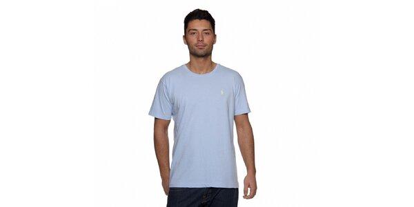 Světle modré triko Ralph Lauren s logem