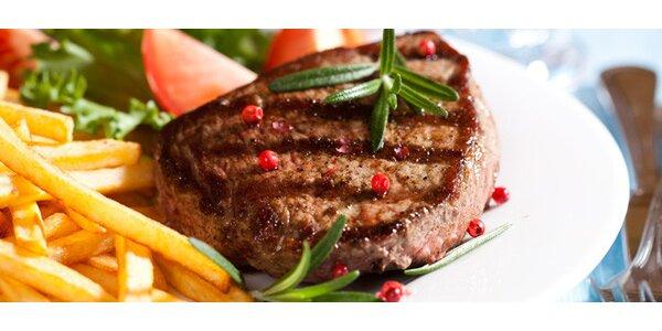 DVA skvělé hovězí steaky dle vlastního výběru s přílohou