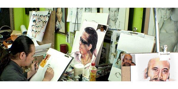 Ručně nakreslený portrét formátu A4 podle vaší fotografie