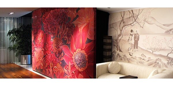 Ruční malba na stěnu od profesionální designérky