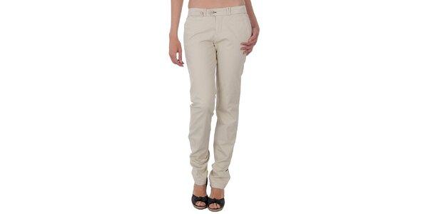 Dámské pískové slim kalhoty Tommy Hilfiger