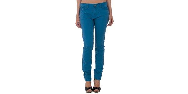 Dámské světle modré slim kalhoty Tommy Hilfiger