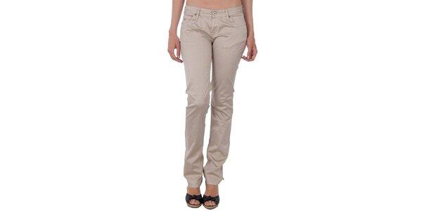 Dámské béžové slim kalhoty Tommy Hilfiger